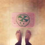 my bathmat. liberated from Thailand.