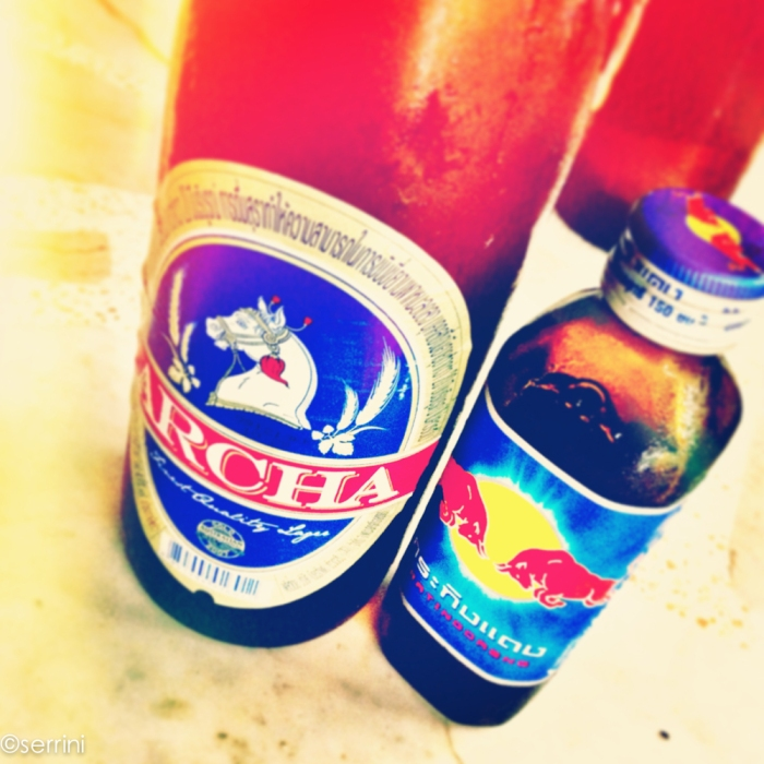 red bull and beer