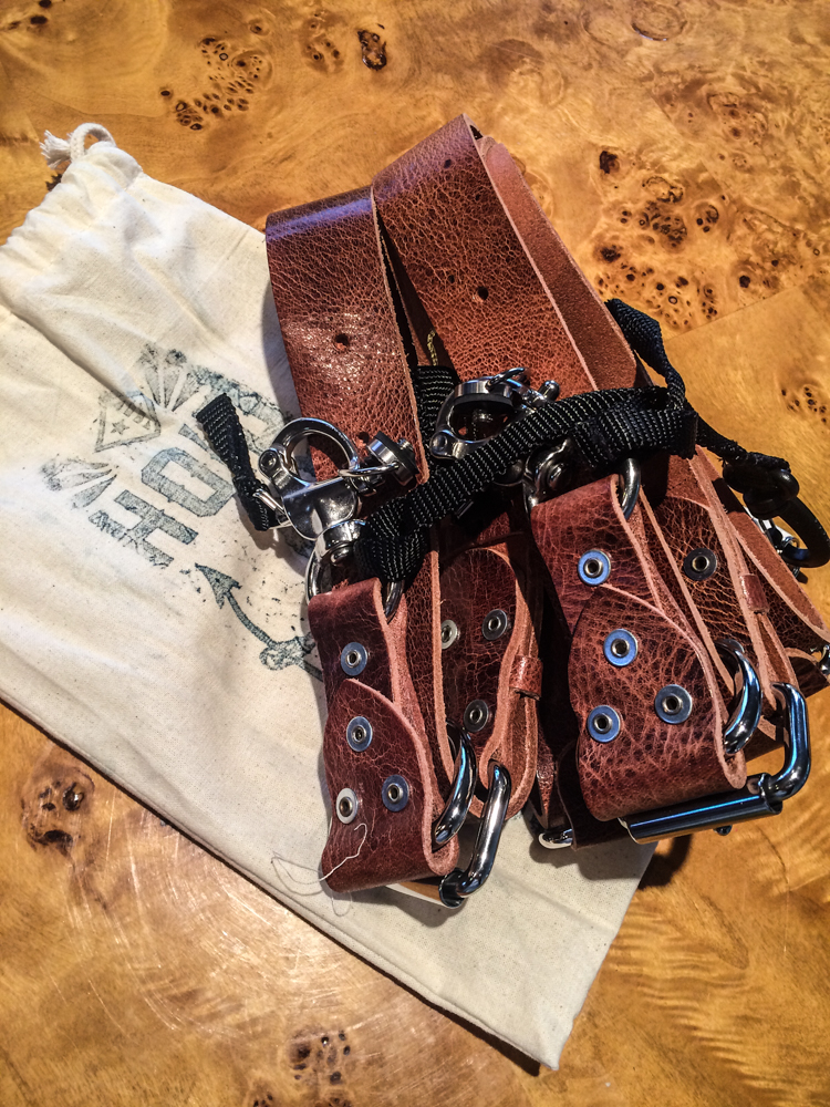 HoldFast Gear Money Maker Two-Camera Harness (Water Buffalo, Tan, Medium Size)